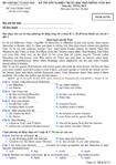 Đề thi tốt nghiệp THPT tiếng Đức hệ phổ thông năm 2012 - Mã đề thi 531
