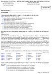 Đề thi tốt nghiệp THPT tiếng Đức hệ phổ thông năm 2012 - Mã đề thi 794