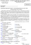 Đề thi tốt nghiệp THPT tiếng Pháp năm 2012 hệ 3 năm - Mã đề thi 638