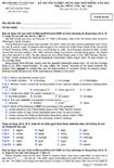 Đề thi tốt nghiệp THPT tiếng Anh năm 2012 hệ 3 năm - Mã đề thi 641