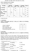 Đề kiểm tra học kì II lớp 6 môn tiếng Anh - Đề số 2