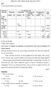 Đề kiểm tra học kì II lớp 7 môn tiếng Pháp - Đề số 7