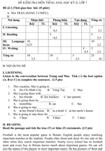 Đề kiểm tra học kì II lớp 7 môn tiếng Anh - Đề số 2