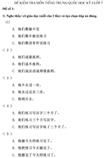 Đề kiểm tra học kì I lớp 7 môn tiếng Trung Quốc - Đề số 1