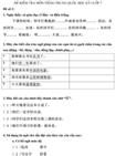 Đề kiểm tra học kì I lớp 7 môn tiếng Trung Quốc - Đề số 2