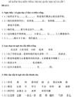 Đề kiểm tra học kì II lớp 7 môn tiếng Trung Quốc - Đề số 2