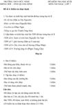 Đề kiểm tra học kì II lớp 7 môn Âm nhạc - THCS Đức Ninh, Quảng Bình (Đề 4)