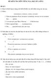 Đề kiểm tra học kì I lớp 8 môn tiếng Nga - Đề 1