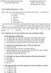 Đề kiểm tra học kì II lớp 9 môn Lịch sử - Trường THCS Trần Hưng Đạo, Đồng Nai (Đề 6)
