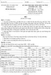 Đề thi học sinh giỏi tỉnh Ninh Thuận môn Địa lý cấp THPT năm học 2011 - 2012