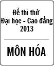 Đề thi thử Đại học môn Hóa năm 2013 - Đại học Khoa học tự nhiên Hà Nội