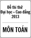 Đề thi thử Đại học môn Toán năm 2013 - Đại học Khoa học tự nhiên Hà Nội