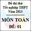Đề thi thử tốt nghiệp THPT năm 2013 - môn Toán (Đề 1)