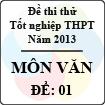 Đề thi thử tốt nghiệp THPT năm 2013 - môn Ngữ văn (Đề 1)