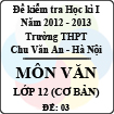 Đề thi học kì I môn Ngữ Văn lớp 12 cơ bản dành cho các lớp A (Đề 03) - THPT Chu Văn An (2012 - 2013)