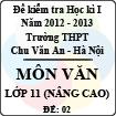 Đề thi học kì I môn Ngữ Văn lớp 11 nâng cao dành cho các lớp D (Đề 02) - THPT Chu Văn An (2012 - 2013)
