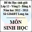 Đề thi học sinh giỏi tỉnh Long An lớp 12 vòng 1 năm 2012 - 2013 môn Sinh (Bảng A)