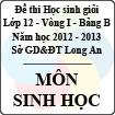 Đề thi học sinh giỏi tỉnh Long An lớp 12 vòng 1 năm 2012 - 2013 môn Sinh (Bảng B)