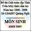 Đề thi giải toán trên Máy tính cầm tay tỉnh Quảng Ngãi môn Sinh học THPT (2008 - 2009)