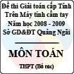 Đề thi giải toán trên Máy tính cầm tay cấp tỉnh Quảng Ngãi môn Toán THPT hệ bổ túc (2008 - 2009)