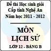 Đề thi học sinh giỏi tỉnh Nghệ An năm 2011 - 2012 môn Lịch sử lớp 12 Bảng B