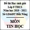 Đề thi học sinh giỏi lớp 9 THCS tỉnh Đăk Nông năm học 2010 - 2011 môn Tin học