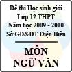 Đề thi học sinh giỏi cấp cơ sở tỉnh Điện Biên năm 2010 môn Ngữ văn lớp 12 - Có đáp án