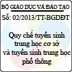 Thông tư số 02/2013/TT-BGDĐT