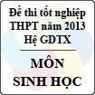 Đề thi tốt nghiệp THPT năm 2013 môn Sinh học (Hệ GDTX) - Có đáp án