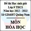 Đề thi học sinh giỏi lớp 9 THCS tỉnh Quảng Nam môn Hóa học