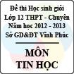 Đề thi học sinh giỏi lớp 12 THPT chuyên tỉnh Vĩnh Phúc năm 2013 môn Tin học