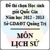 Đề thi chọn đội tuyển Học sinh giỏi Quốc Gia tỉnh Quảng Trị năm 2012 - 2013 môn Lịch sử