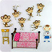 Video học Tiếng Anh cho trẻ em: Five Little Monkeys Jumping On The Bed