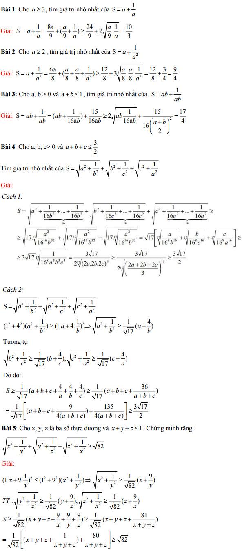 bài tập về bất đẳng thức
