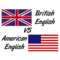 British English and American English words