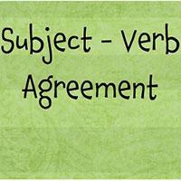 Sự hoà hợp giữa chủ ngữ và động từ