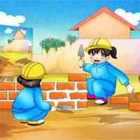 Giáo án mầm non đề tài: Bé làm thợ xây