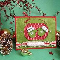 Biến tấu tấm thiệp DIY cho Giáng sinh