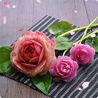 Hướng dẫn tỉa củ cải thành hoa hồng cực đẹp