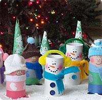 Dạy bé làm người tuyết Giáng sinh từ lõi giấy cực xinh