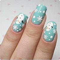 """Cách vẽ móng tay hình người tuyết """"cực chất"""" cho Giáng sinh"""