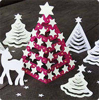 Cách làm cây thông giấy siêu đẹp trang trí cho Giáng sinh