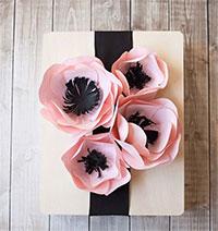 Cách làm hoa giấy trang trí hộp quà 8-3 siêu đẹp