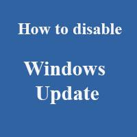 Cách tắt tính năng tự động cập nhật trên Windows