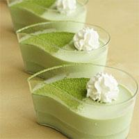 Hướng dẫn làm pudding trà xanh đơn giản
