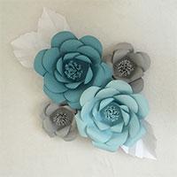 Cách làm hoa giấy cho phông cưới tuyệt đẹp