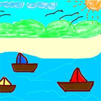 Giáo án mầm non đề tài: Bé vẽ biển