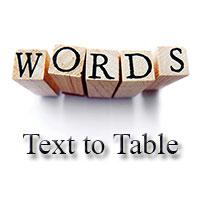 Cách chuyển text sang dạng bảng trong Word
