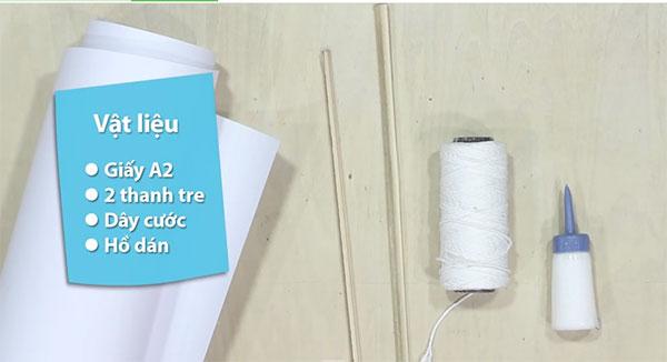 Cách làm diều giấy đơn giản