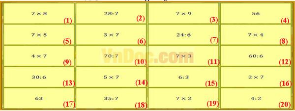 Đề thi violympic toán tiếng anh lớp 3 vòng 4